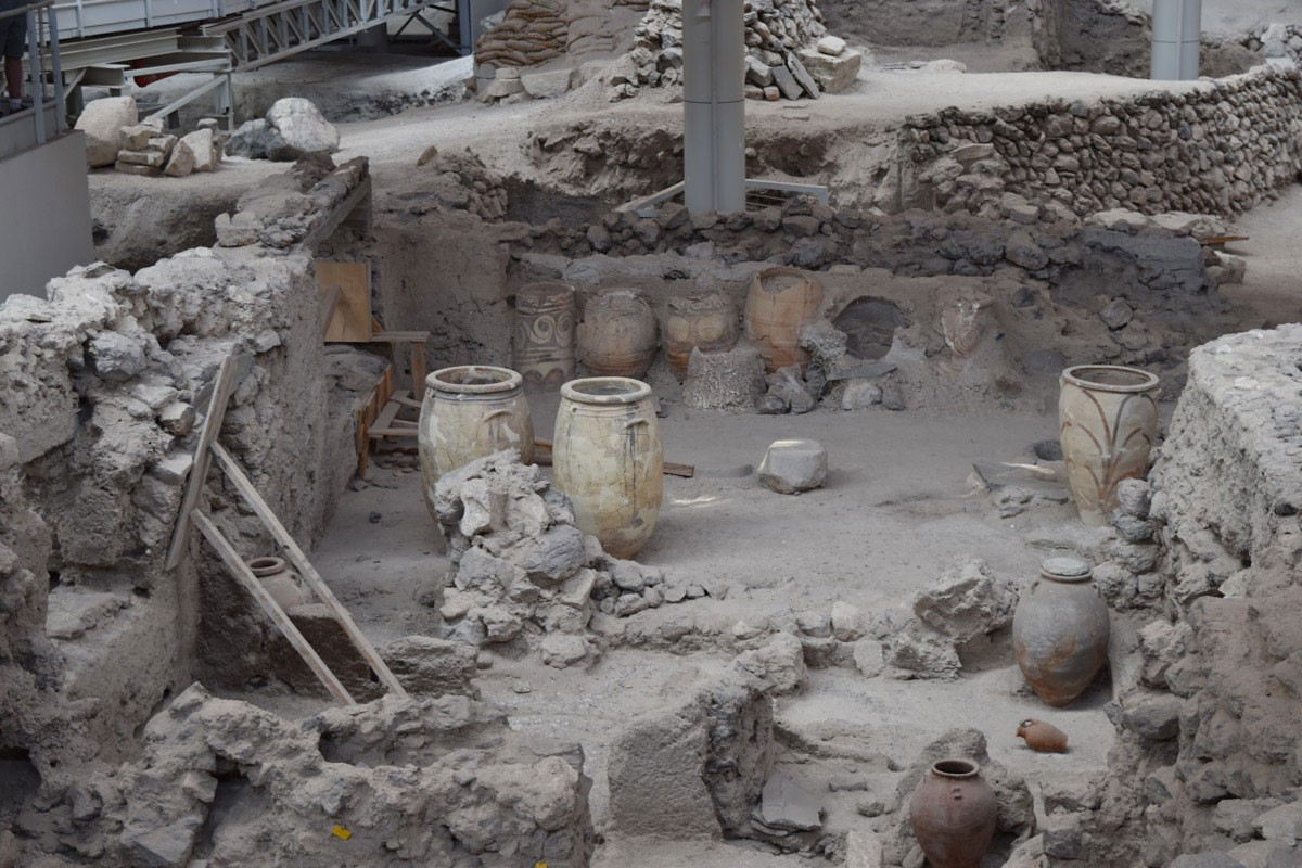 Traveling in Time and Exploring the Historic Site of Akrotiri