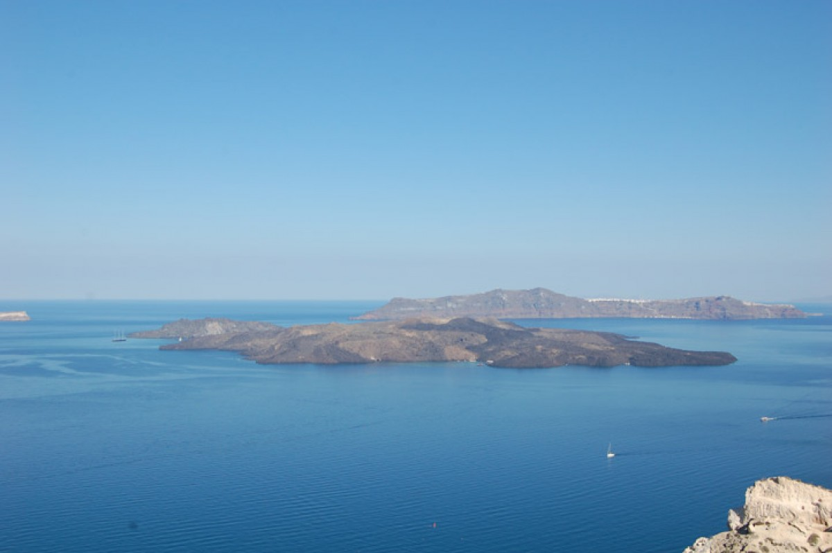 Santorini an Island Shaped from an Imposing Volcano