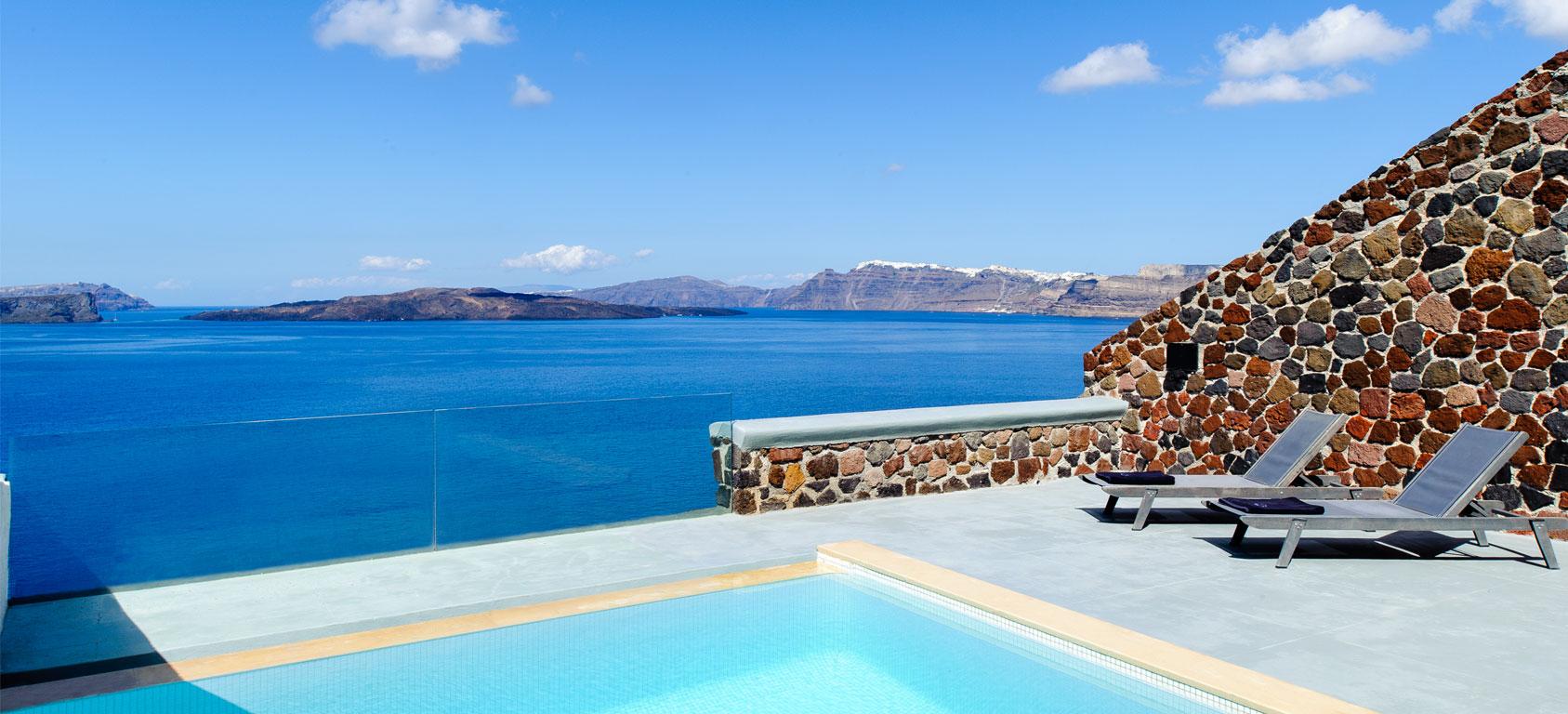 Santorini Hotel Room With Cave Pool